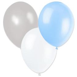 Ballonger Blå, Ljusblå, Silver