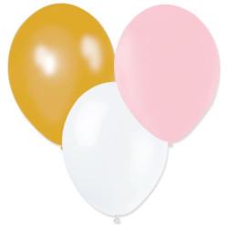 Ballonger Vit, Rosa, Guld