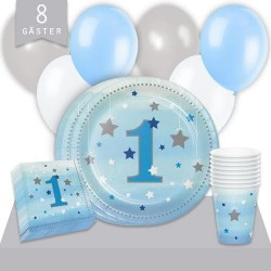Kalaspaket Little Blue Star 1 år Enkel 8 pers