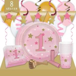 Kalaspaket Little Pink Star 1 år Lyx 8 pers