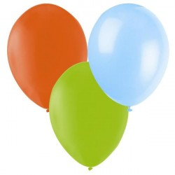 Ballonger Lime, Ljusblå, Orange