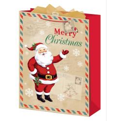 Presentpåse Vintage Santa