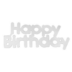 Konfetti Happy Birthday Silver