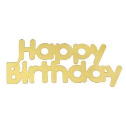 Konfetti Happy Birthday Guld