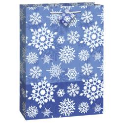 Presentpåse Snöflingor Blå