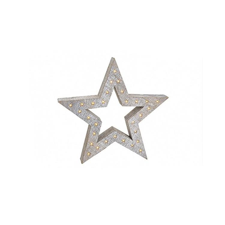 Stjärna med belysning