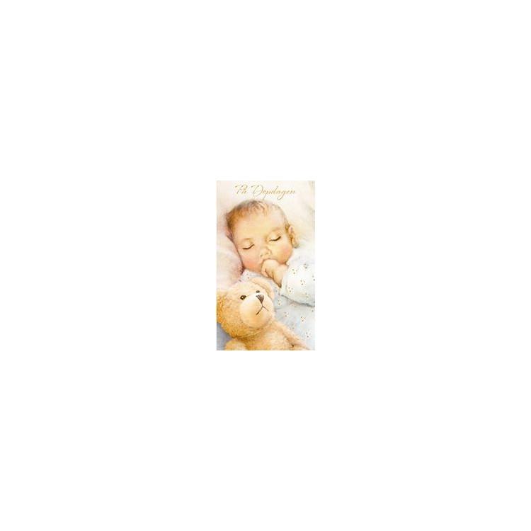 Dopkort Baby med Nalle