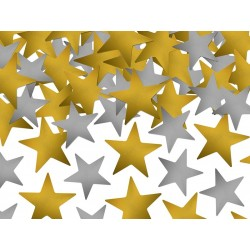Konfetti Stora Stjärnor Mix