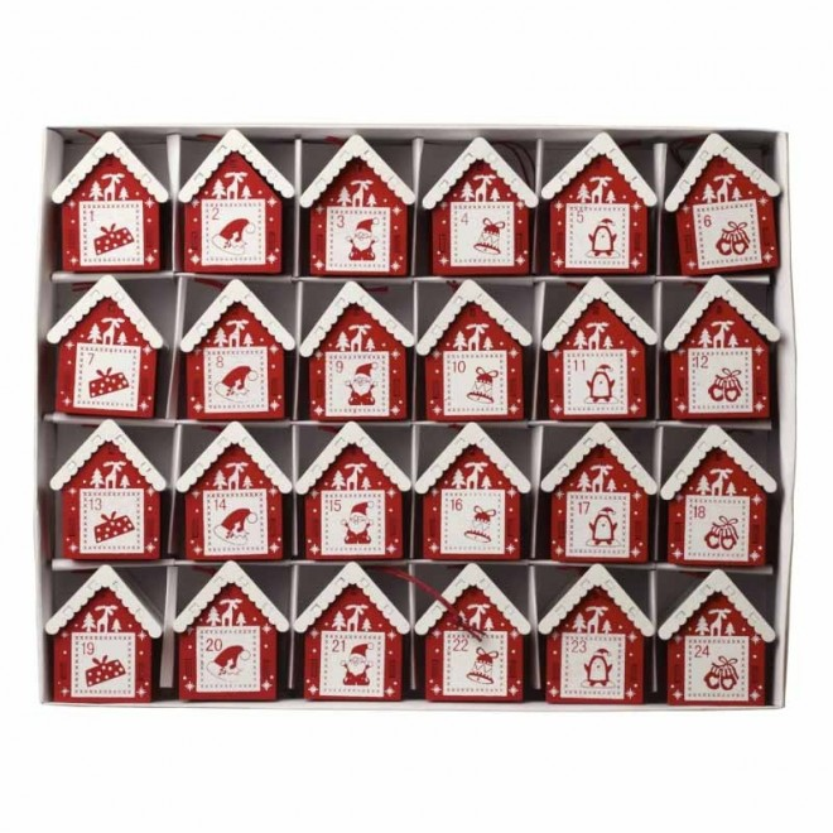 Adventskalender små hus