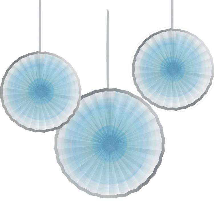 Pappersmånar Ljusblå 3-pack