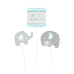 Dokoration Liten Elefant Ljusblå