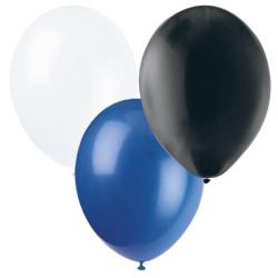 Ballonger Svart, Vit, Blå