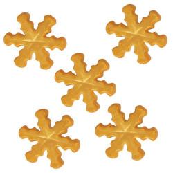 Sockerdekoration Snöflingor Guld