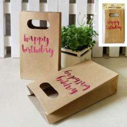 "Kalaspåsar Foiled Pink ""Happy Birthday"""