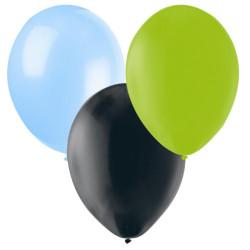 Ballonger Svart., lime, Ljusblå