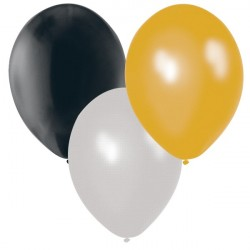 Ballonger Silver, Svart, Guld