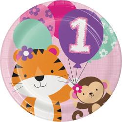 First Birthday Tallrik rosa