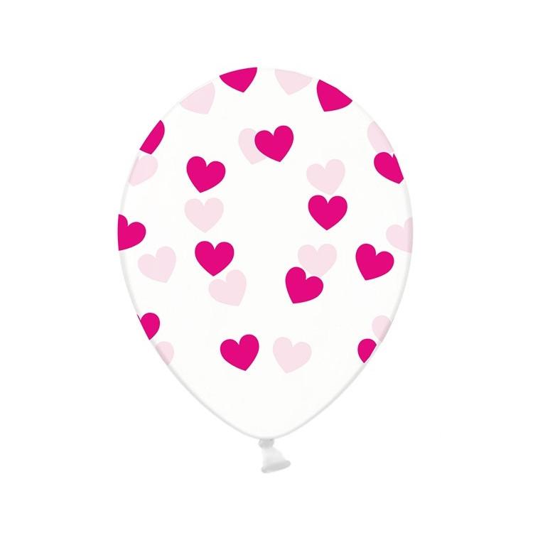 Ballonger med hjärtan Röd