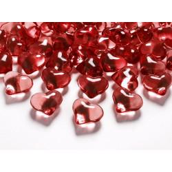 Dekorationsstenar Hjärtan Röda