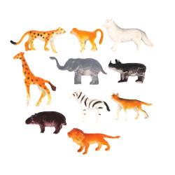 Plastdjur Djungel 10-pack