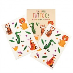Tatueringar Färgglada Djur