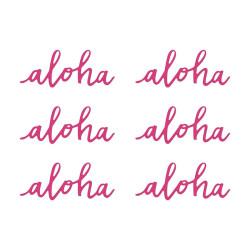 Pappersdekoration Rosa Aloha