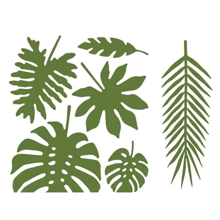 Pappersdekorationer Tropiska blad