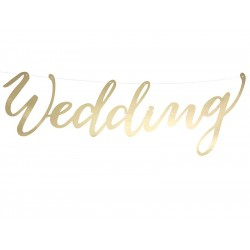 Bröllopsgirlang Love Guld