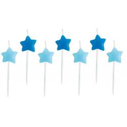 Tårtljus Stjärnor Blå