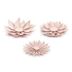 Dekoration Stora Blommor Puderrosa 3-pack