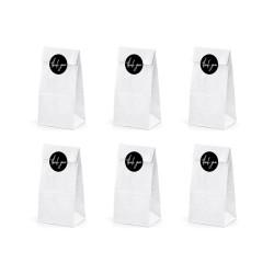 Papperspåsar Vita 6-pack