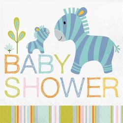 Servetter Babysafari Babyshower