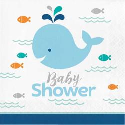 Servetter Babyshower Den Blå Lilla Valen