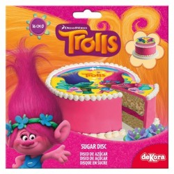 Tårtbild Sockerpasta Trolls