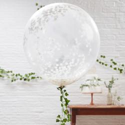 Jätteballonger med Konfetti 3-pack