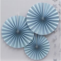 Pappersmånar Pastellblå 3-pack