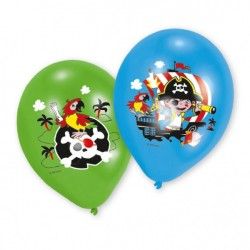 Piratballonger Blå och grön