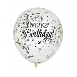Ballonger Transparent Happy Birthday