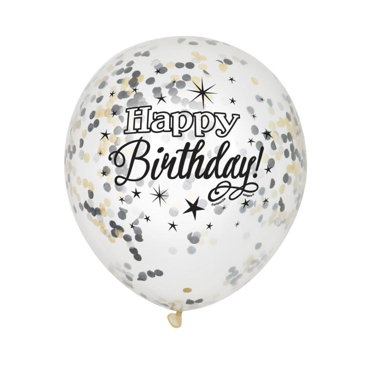 Ballonger Transparent Happy Birthday