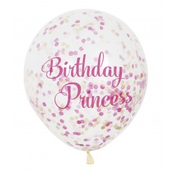 Ballonger Transparent Birthday Princess