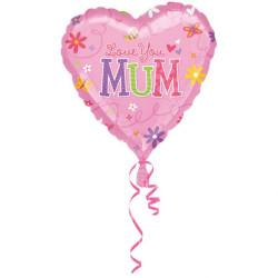 Folieballong Love you Mom