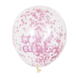 Ballonger It´s a Girl med Konfetti