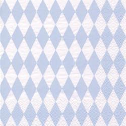 Servetter Harlekin Ljusblå