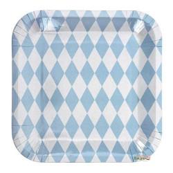 Tallrikar Harlequin Ljusblå 12-pack