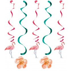 Girlang Hibiscus & Flamingo