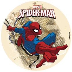 Tårtbild Sockerpasta Spindelmannen