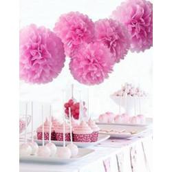Dekorationsbollar Hot Pink 2 pack