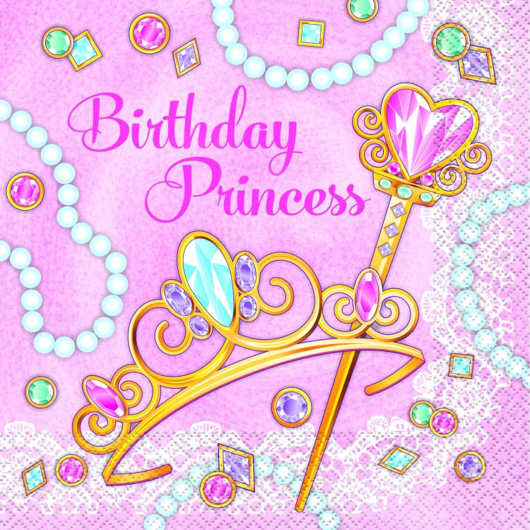 Pink Princess Servetter