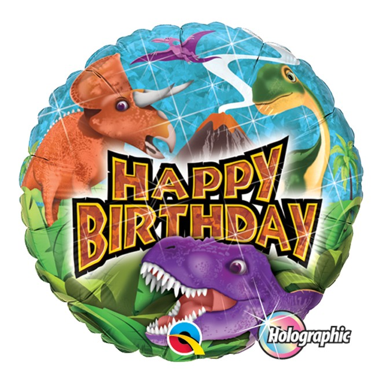 Folieballong Holografi Dinosaurier