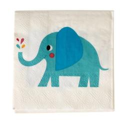Blå Elefant Servetter